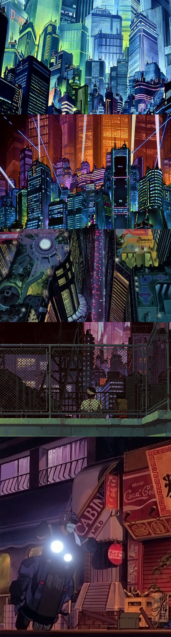 Screen stills from Akira. random insperation Pinterest