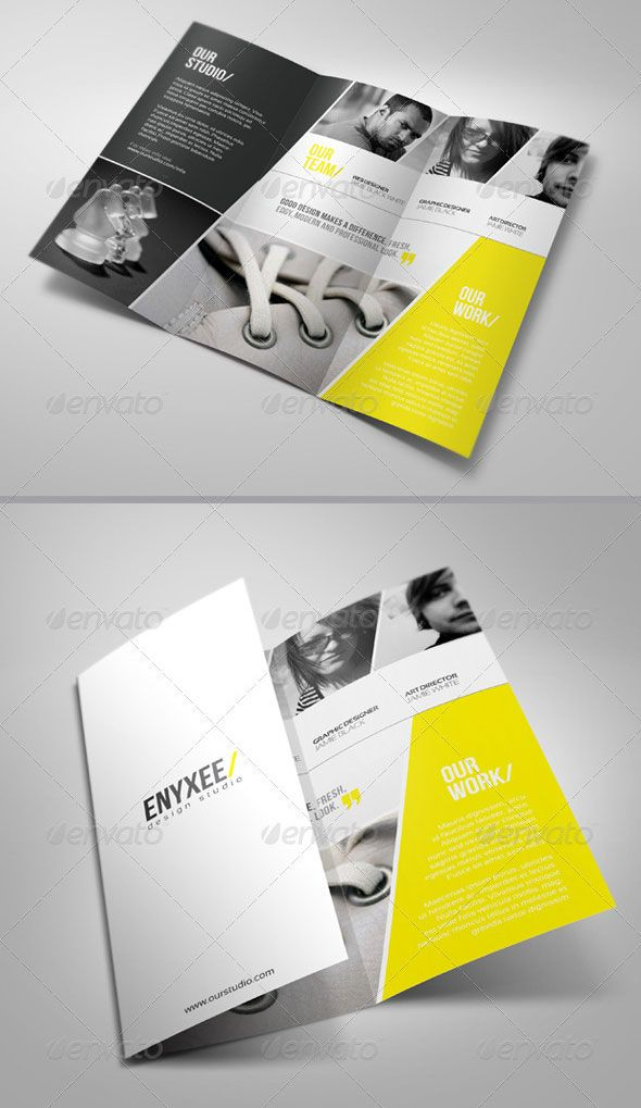 Top Notch Psd TriFold Brochure Templates For Business