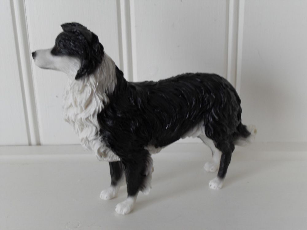 Black And White Border Collie Working Sheepdog Ornament Christmas