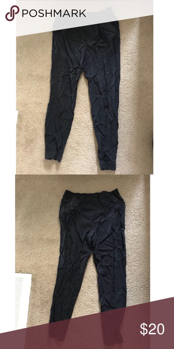 64ffdfea6 Mango joggers pants Black pants that cuff at the bottom. They are lose  fitting with an elastic band. Size is small, But they run big.