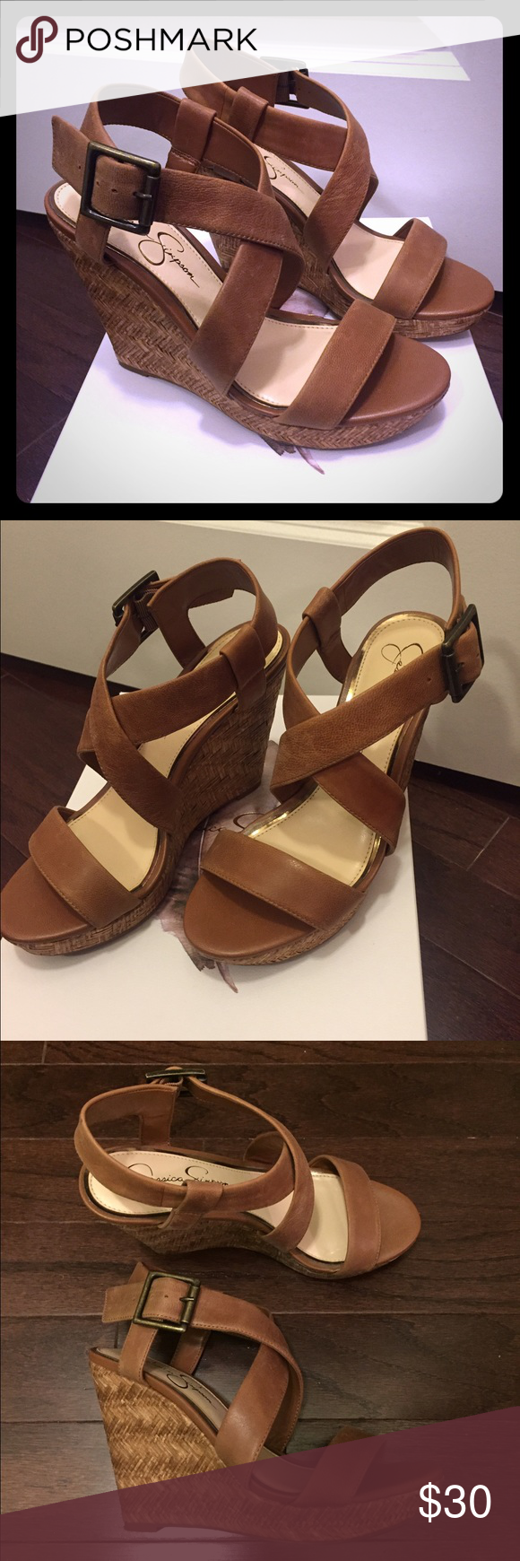 Jessica Simpson Joliet Wedges Cute Wedge Sandle. Worn twice. Jessica Simpson Shoes Wedges