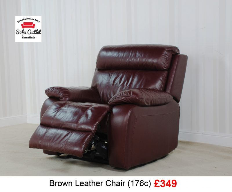 Moreno Brown Leather Power Recliner Chair 176c 349 Brown Leather Chairs White Dining Chairs Round Sofa Chair