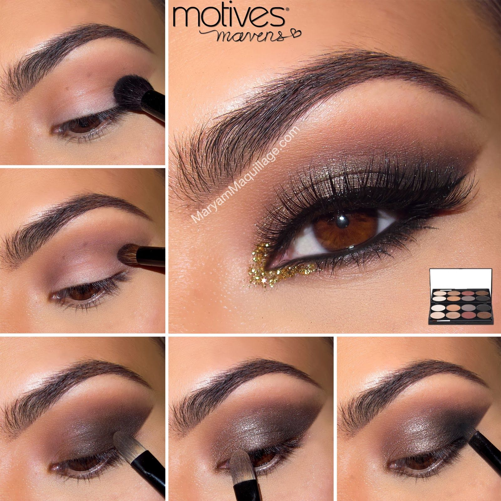 smokey eye makeup tutorial for brown eyes with mascara