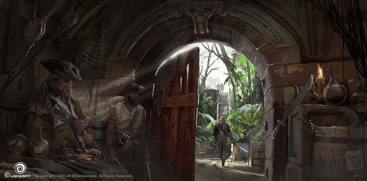 Assassin's Creed IV Black Flag Concept Art, Martin Deschambault on ArtStation at https://www.artstation.com/artwork/m3LZ