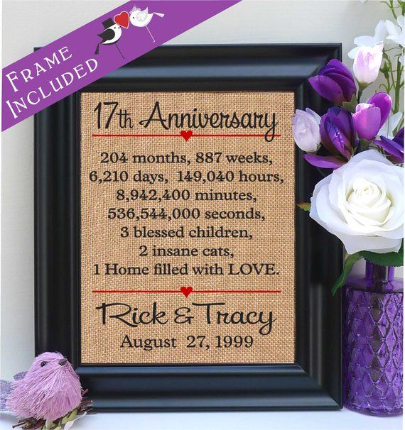 Traditional 17th Wedding Anniversary Gifts: 17th Wedding Anniversary, 17th Wedding Anniversary Gift