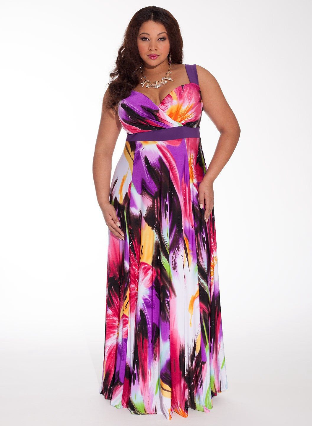 Summer maxi dress formal for plus size women
