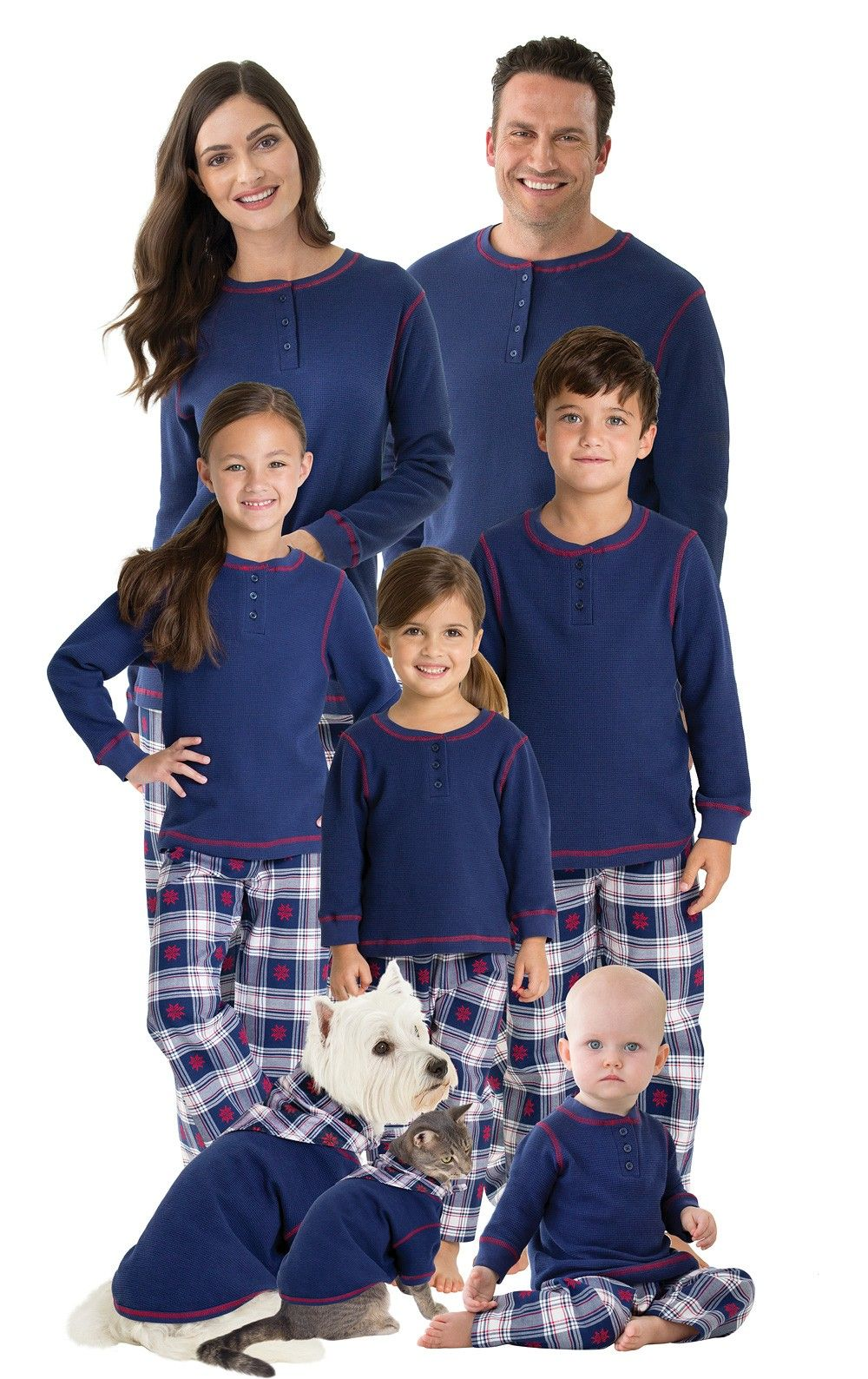 Snowfall Plaid Matching Family Pajamas Family pajama