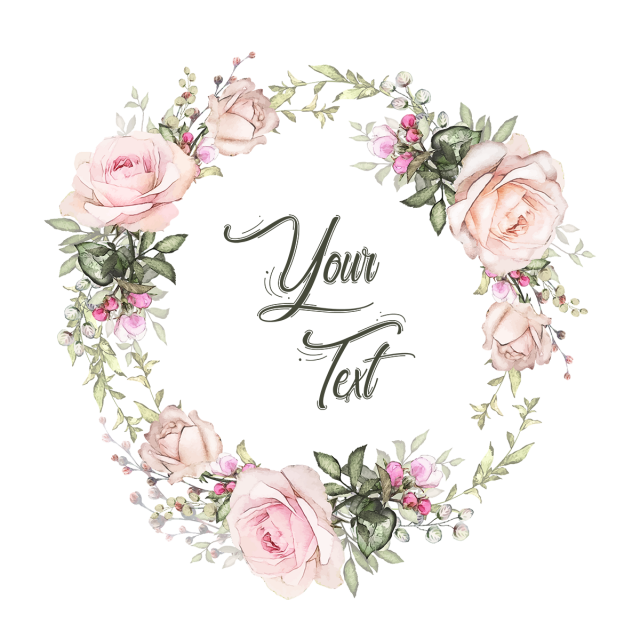 Floral Badges Wreath Romantic Flower Wreath Pink Invitation Modern Classic Gre Watercolor Flower Wreath Floral Wreath Watercolor Watercolor Flower Background