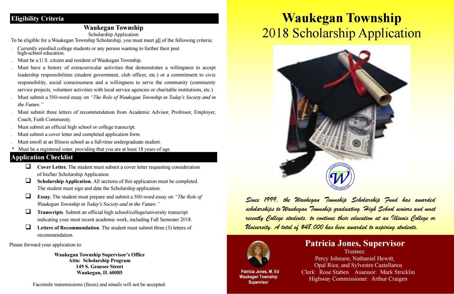 Township Scholarship Application