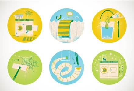 Real Simple Speed Cleaning Illustrations | Flickr - Photo Sharing!