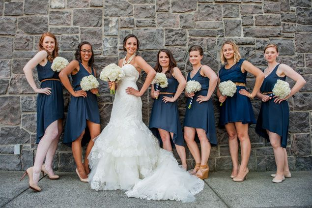 Navy Bridesmaids Dresses Nautical Wedding Photo Source Anda Photography