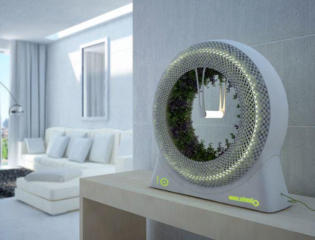 indoor rotary hydroponic garden design libero fits on shelf