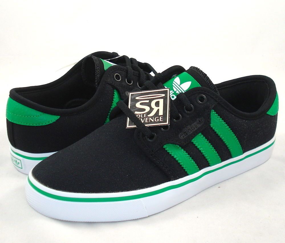 New 11.5 adidas Originals Mens SEELEY Black Fairway Green