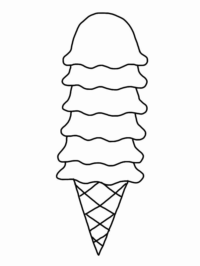 Printable Ice Cream Coloring Pages Best Of Ice Cream Sundae