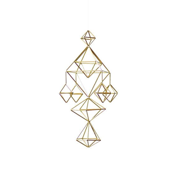 Himmeli no. 5  Modern Hanging Mobile  Geometric Art by HRUSKAA