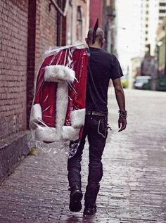Punk Rock Christmas Punk Classic Christmas Santa Claus Costume