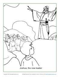 Joshua The New Leader Coloring Page Sunday School Coloring