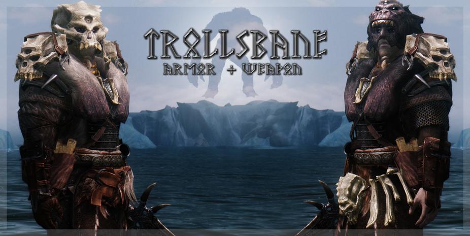 Trollsbane Armor and Weapon at Skyrim Nexus - mods and community