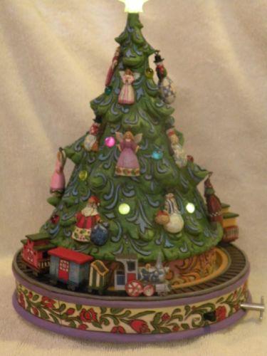 Jim Shore All Aboard For Christmas Joy Musical Revolving Christmas Tree Train Ebay Christmas Tree Train Christmas Joy Jim Shore Christmas