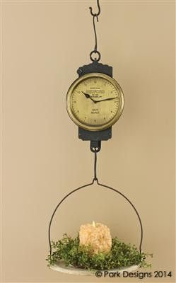 Hanging Scale Clock Hanging Scale Antique Kitchen Decor