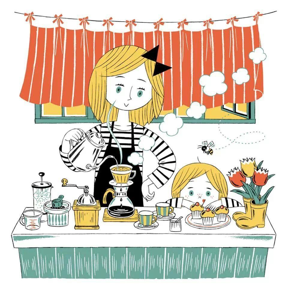Madre E Hija Ilustraciones Libro Infantil Dibujos