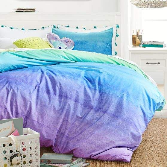 Pottery Barn Teen Organic Watercolor Rainbow Duvet Cover Twin Twin Xl Cool Multi In 2019 Products Organic Duvet Covers Duvet Covers Duvet