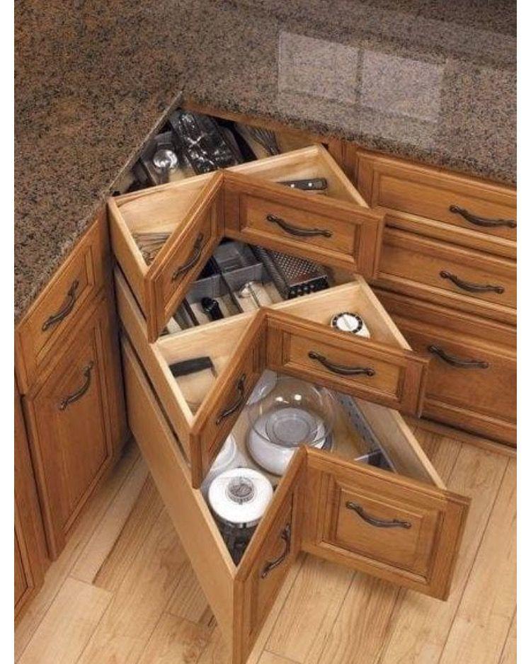 Corner cupboard ideas!! Genius! | Kitchen ideas | Pinterest