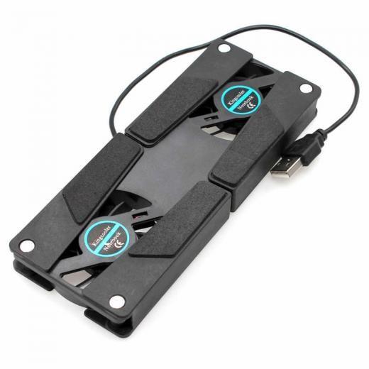 1x Usb Folding Useful Cooler 2 Fan Pad Dc 5v W Laptop Notebook