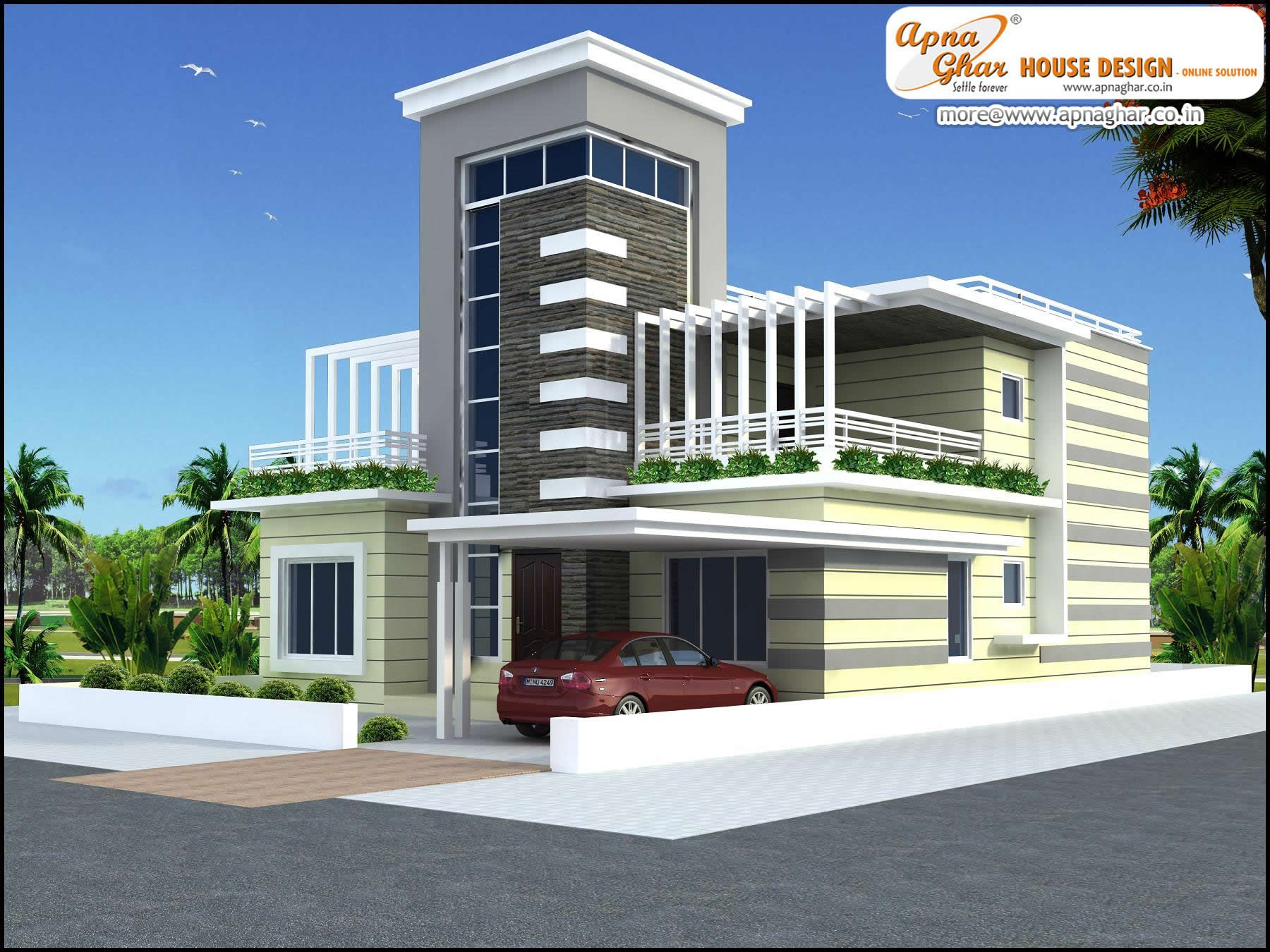 4 bedroom duplex 2 floor house design area 252m2 21m for 4 bedroom duplex design