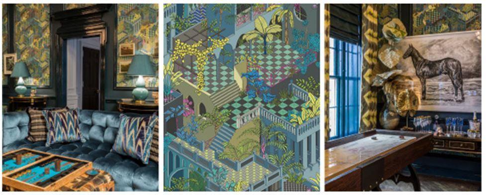 Cole & Son Wallpaper Winter News Interior design