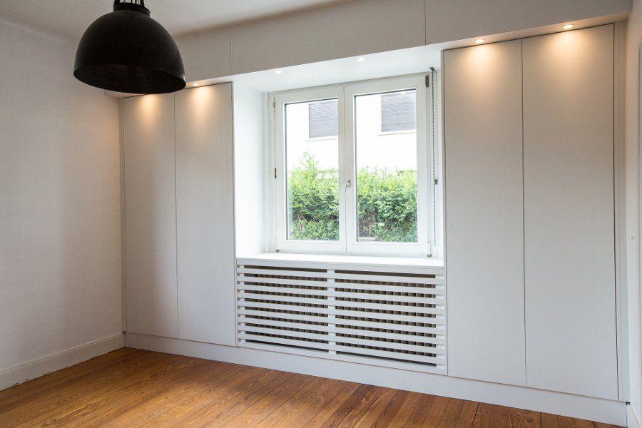 Biblioth que meuble tv cache radiateur sur mesure cache radiateur pinterest - Meuble cache radiateur ...