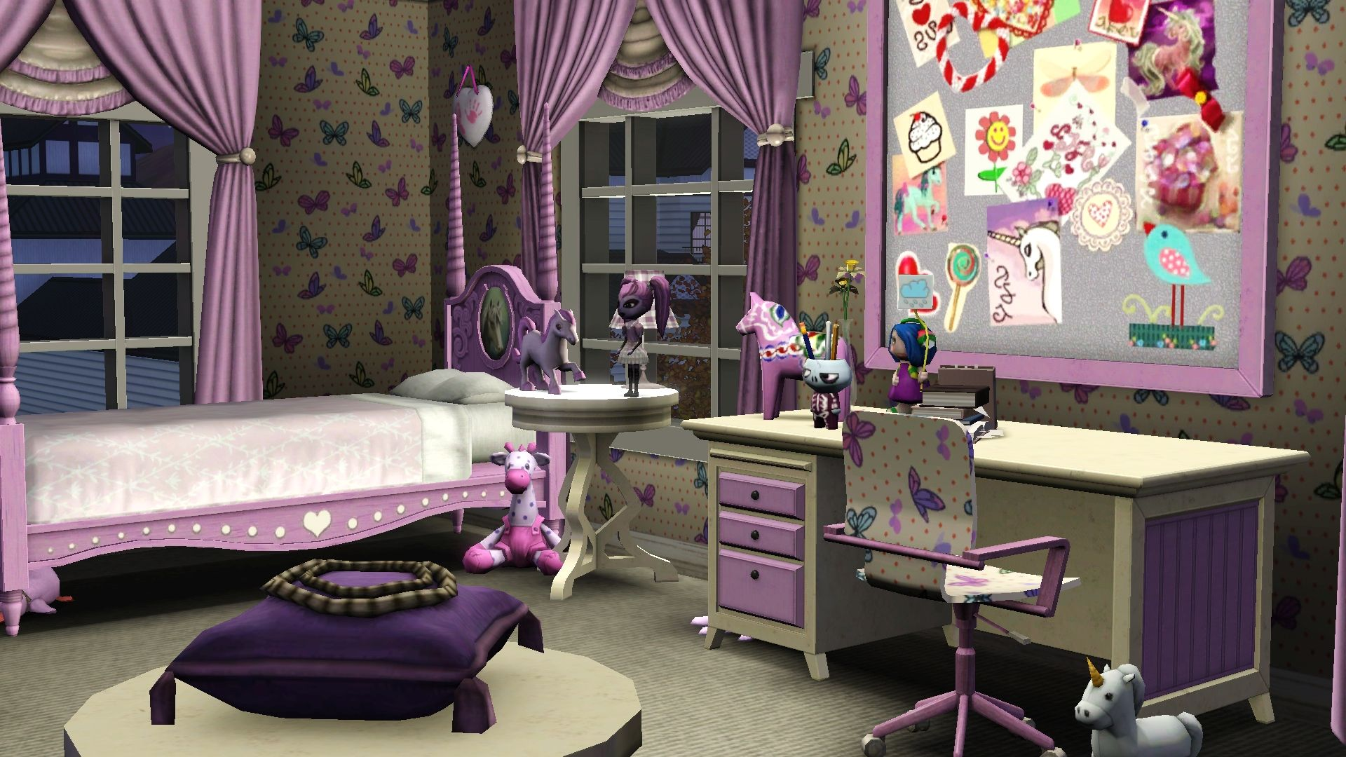 Sims 3 Bedroom Decor Cute Girls Room The Sims 3 Interior Sims 3 Pinterest The