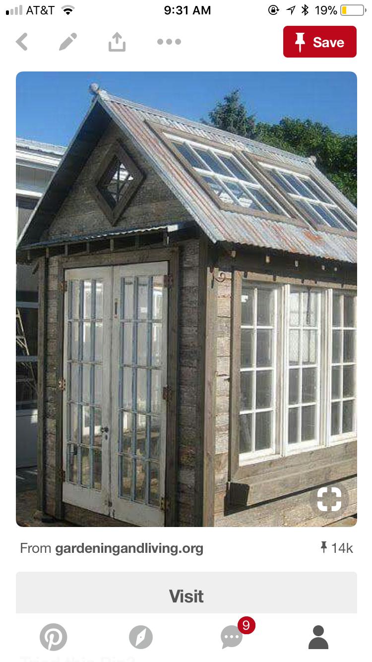 Pin by Kathy Cervoni on Garden sheds | Pallet greenhouse ...