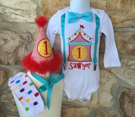 Carnival Circus Theme First Birthday Shirt Set by Fashioned4You2