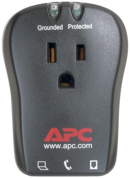 Apc 1 Outlet Travel Surge Protector With Telephone Protection Apc Computer Accessories Telephone