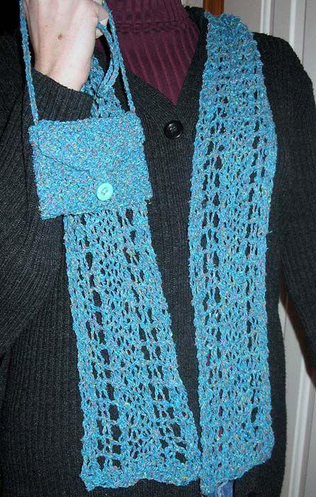 Silk Tweed Lace Scarf & Mini Bag