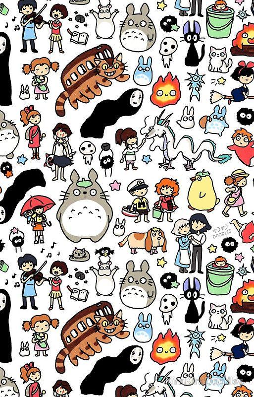 Kawaii Ghibli Doodle Cute doodles, Kawaii wallpaper