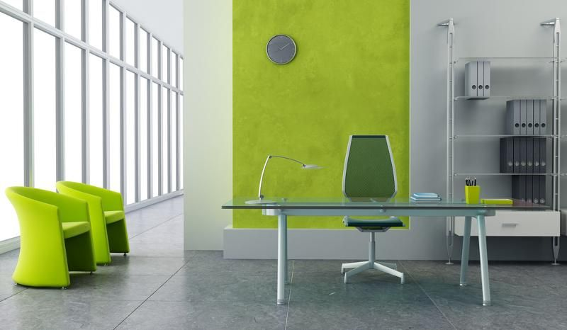 Clean Lines And Lime Green Accents Give