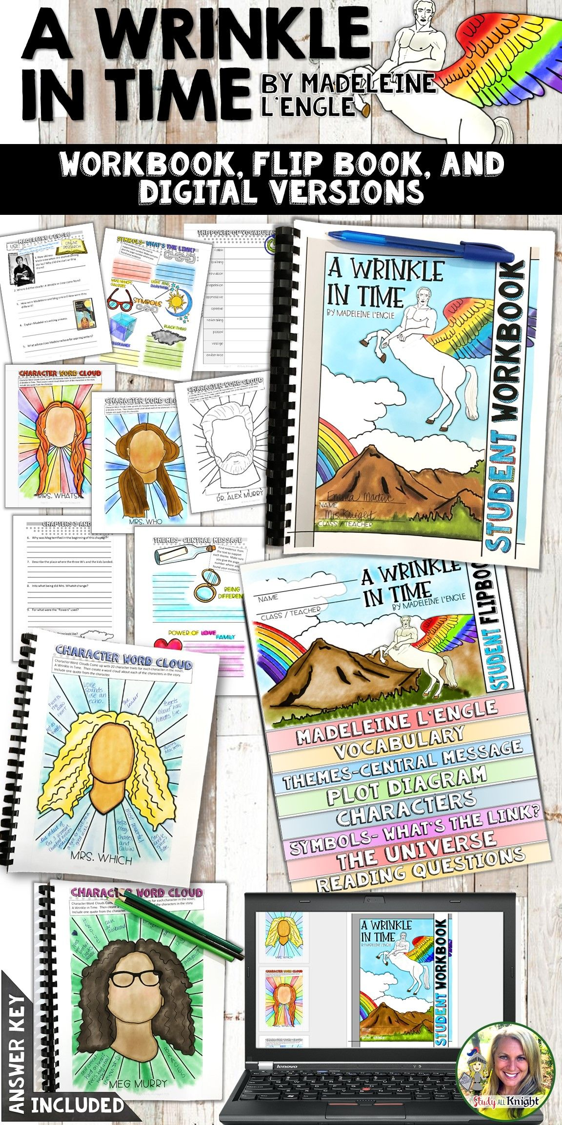 A Wrinkle In Time Novel Study Workbook Flip Book And For