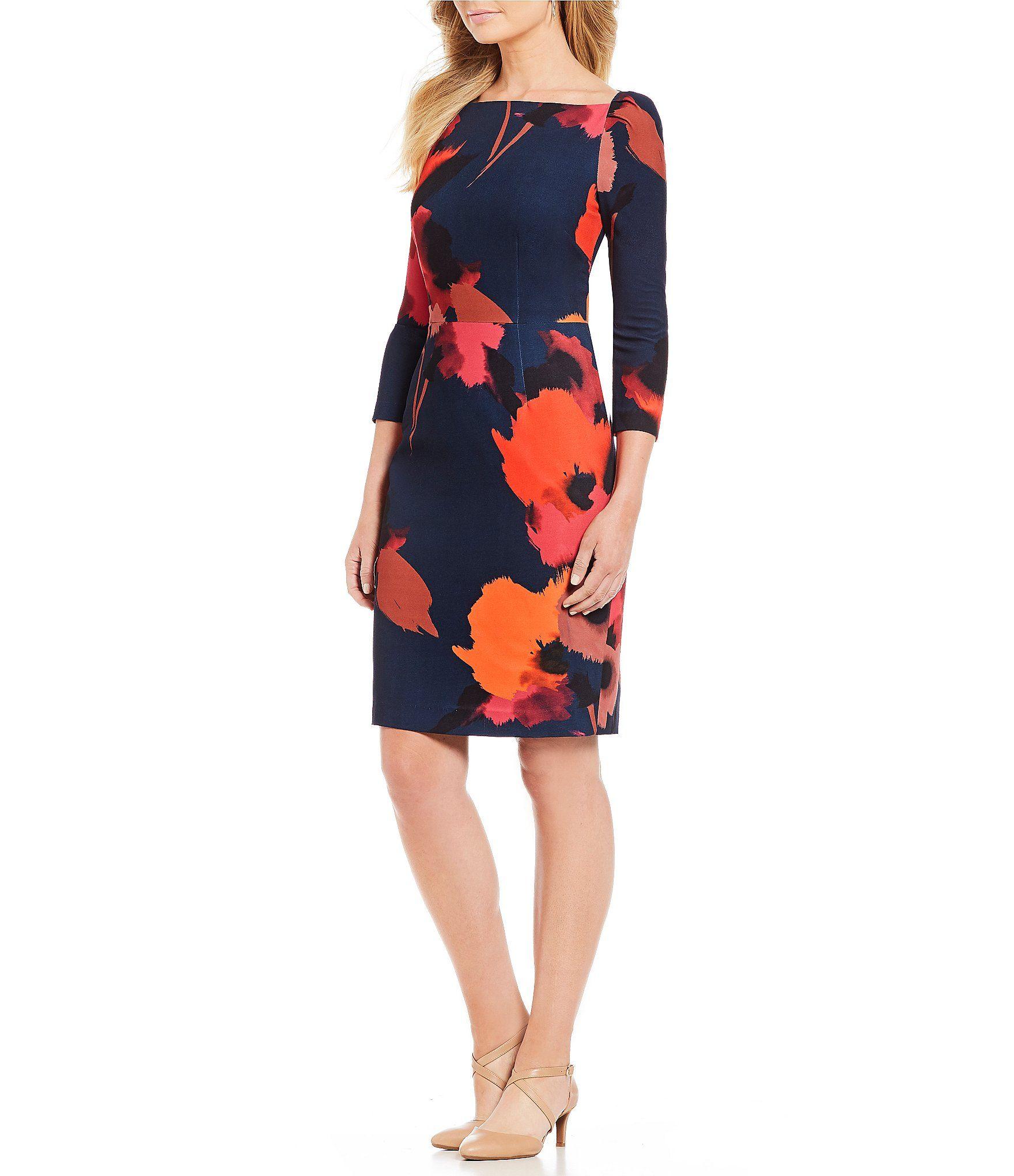 8d7f7ce50fd Alex Marie Yasmin Printed Sheath Dress  Dillards