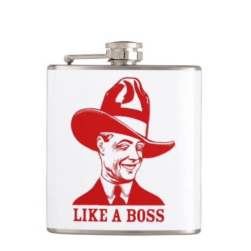 Sip your booze LIKE A BOSS with this stylish Flask. Great Father's Day gift idea for Dad. (25% OFF Sale Today)