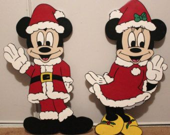 christmas 26 disney minnie mouse and mickey mouse decoration limited edition christmas yard display christmas standee - Mickey Mouse Christmas Lawn Decorations