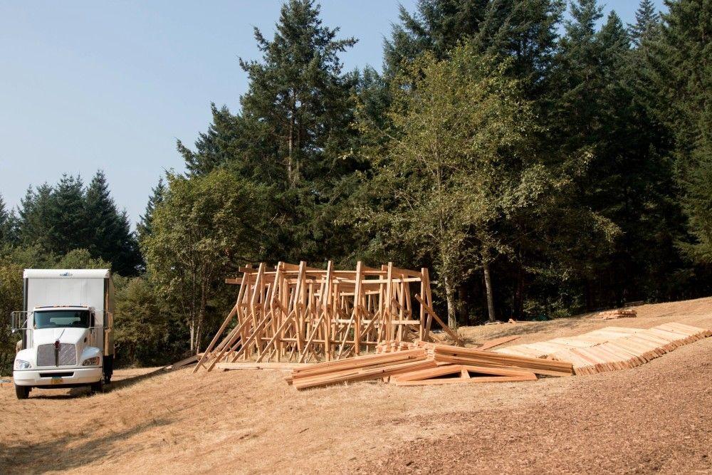 Pickathon Music Festival 39 S Treeline Stage Designed By Portland State University Architecture Students W University Architecture Sleeping Pods Oregon City
