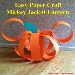 Step-by-step instructions for this easy Mickey Mouse inspired paper Jack-O-Lantern. You probably have all the supplies on hand and construction..#Disney #mousecrafts