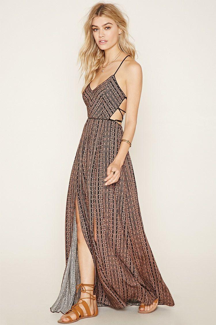 280f0464e98 Geo Print Maxi Dress