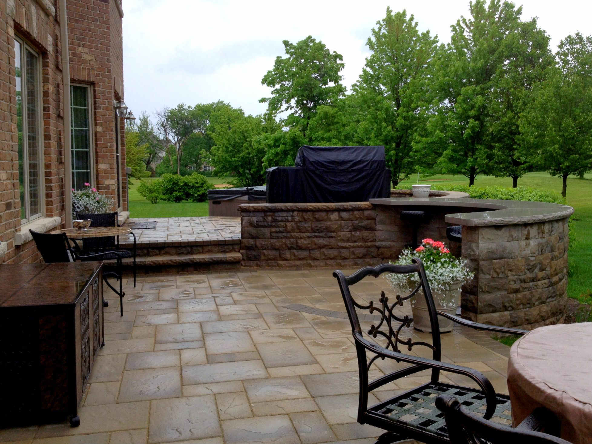 Multi Level Patio Design By Chicagoland Patio Builder   Design Ideas    Archadeck