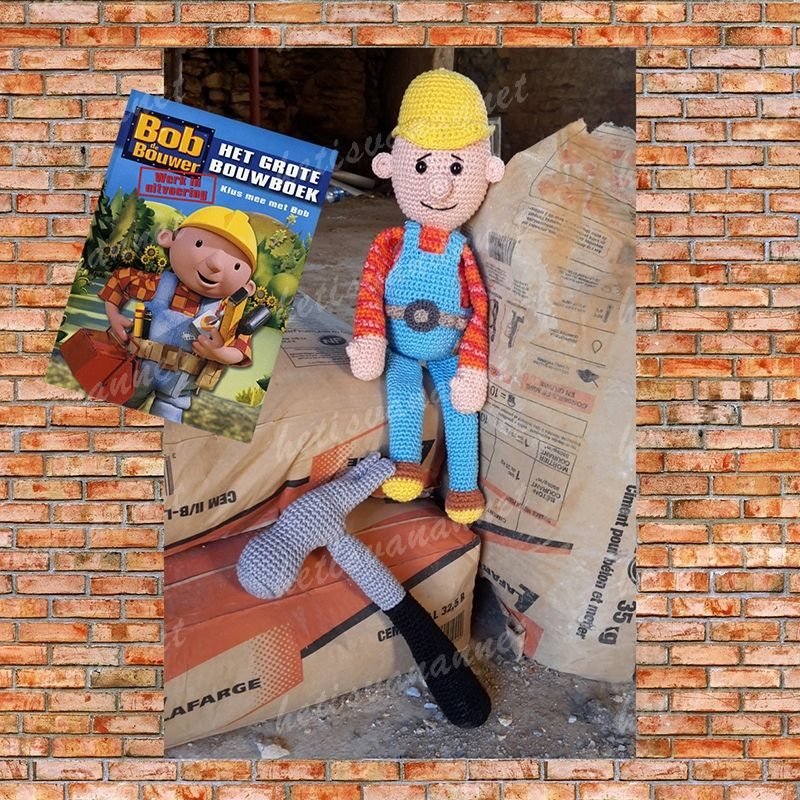 Bob de Bouwer! Bob the Builder! Amigurumi