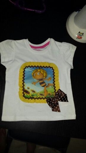 Camiseta abeja maya #patchwork