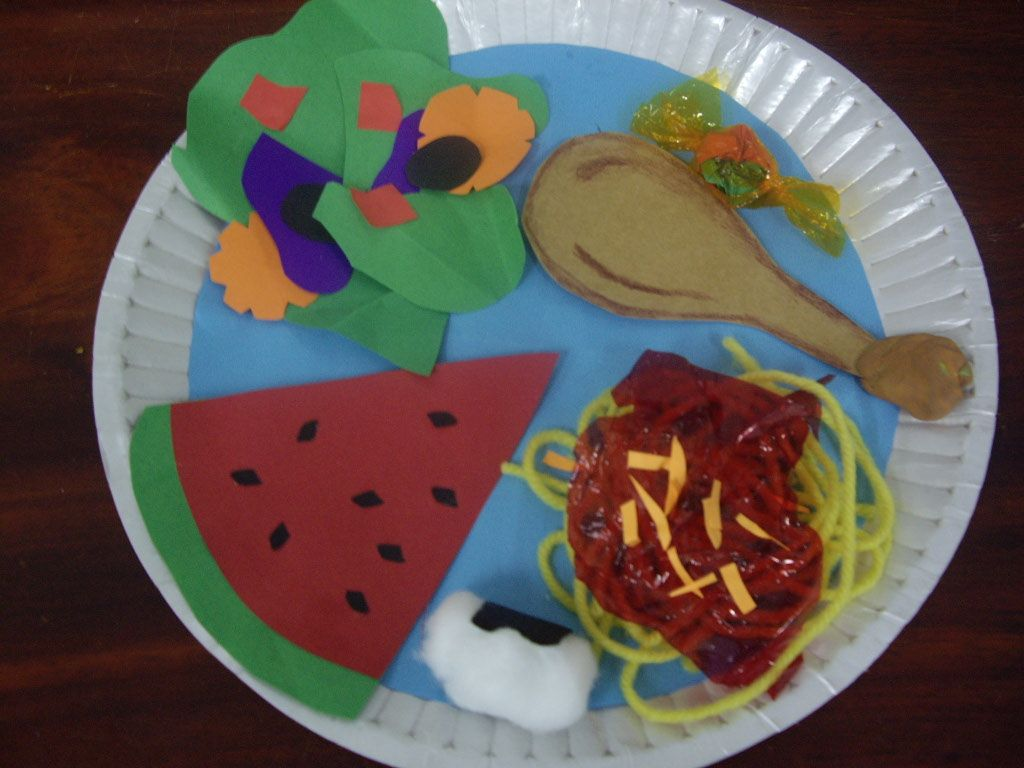 craft group ideas healthy plate craft for teaching food groups 1509