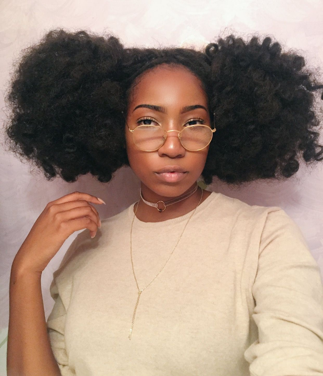 Natural Curly Pigtail Hair Follow Fayelanabell For More Curly Hair Pins Curly Hair Styles Naturally Natural Hair Styles Beautiful Natural Hair